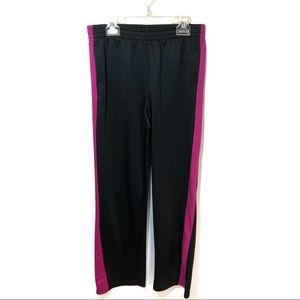 Danskin sweatpants black w/pink stripe XL 14-16